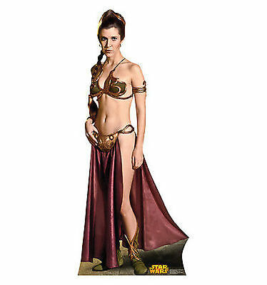 Star Wars Princess Leia Slave Wookie Lifesize Standup Cardboard Cutout 1804](Star Wars Cutouts)