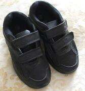Boys Black Velcro Shoes