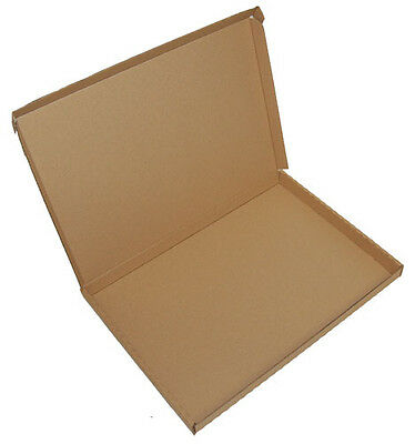 20 A4 C4 Cardboard Postal Mailing Boxes Flat Pizza Style 335mm x 243mm x 25mm