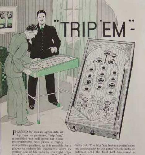 1937 PINBALL GAME How-To Build PLANS 2 player Pachinko
