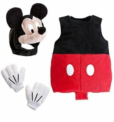 NWT Disney Store Baby Mickey Mouse Plush Costume Size 3-6 months Nose Squeaks](Mickey Mouse Nose Costume)
