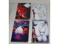 APPLE IPAD MINI BIG HERO 6 PU LEATHER FOLIO CASE COVER FOLDING FLIP STAND FOLIO.