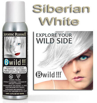 Jerome Russell B Wild Hair Color Spray SIBERIAN WHITE 3.5oz (White Hair Spray)