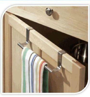 Stainless Steel Over the Door Hook Home Kitchen Single Towel Hanger Holder 23CM