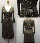 Silk Animal Print Wrap Dresses