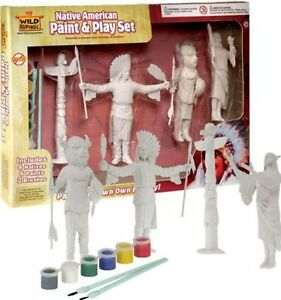 "Wild Republic Native American Model 6.5"" Figure Paint & Play Set"