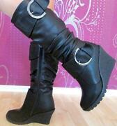 Damen Stiefel 38 Leder