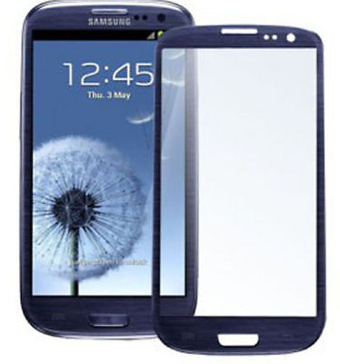 Samsung Galaxy S3 SIII Touch Screen Glass Digitizer Lens Replacement Pebble Blue (Galaxy S3 Screen Replacement Blue)