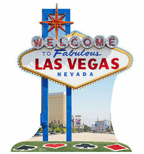 Welcome to las vegas sin city sign life size standup cardboard cutout 1841