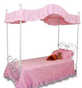 twin canopy bed ebay. Black Bedroom Furniture Sets. Home Design Ideas