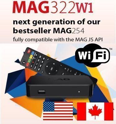 USA SELLER Original Infomir MAG322W1 IPTV Set top box Built in WIFI New mag254