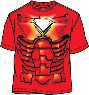 Original Unüberwindlich Iron Man Tony Stark Kostüm Marvel Comics Avengers HEMD S ()