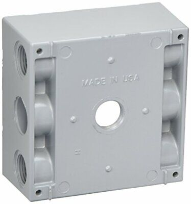 Greenfield B252ps Series Weatherproof Electrical Outlet Box Gray