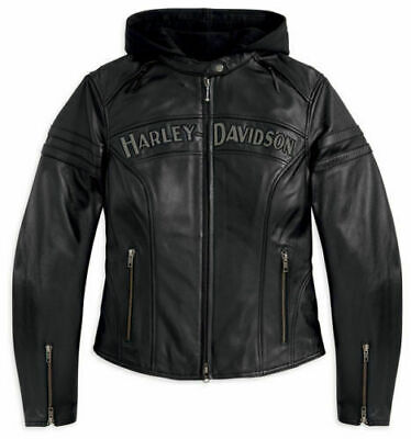 100% Authentic Harley Davidson Miss Enthusiast 3-in-1 Leather Jacket NWT