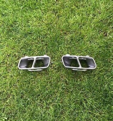 Original Mercedes AMG Endrohre Auspuffblende Chrome Satz A Cla Gla NEU!