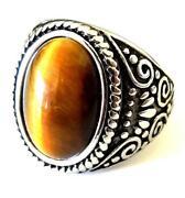 Mens Tiger Eye Ring