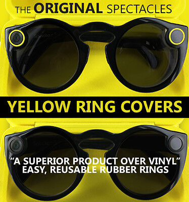 The Original Spectacles Yellow Ring Covers (two double ring packs - 4 in total)