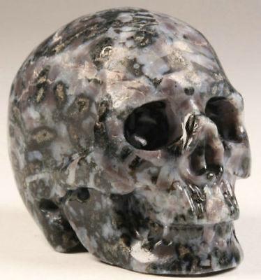 NICE 2.1 IN Genuine Gabbro Carved Crystal Skull, Realistic, Healing #751