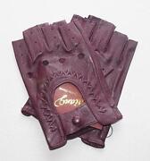 Ladies Fingerless Leather Gloves