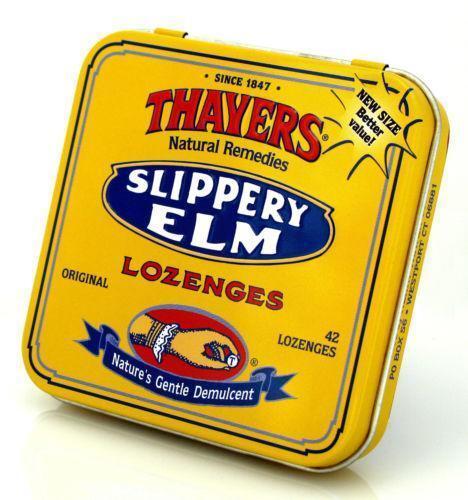 Slippery elm for sore throat
