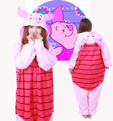 Piglet Pig Kigurumi Pajamas Anime Cosplay Costume Unisex Adult Pyjama Sleepwear ](Piglet Pajamas)