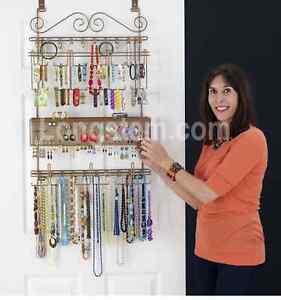 Longstem #7100 Over The Door Hanging Jewelry Organizer Storage Rack ~ Rated  Best