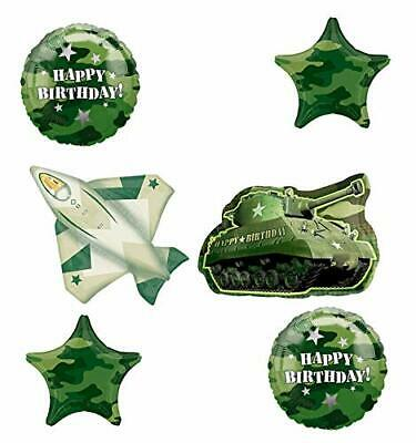 Army Tank and Jet Fighter Camouflage Party Supplies Birthday Balloon - Army Birthday Supplies
