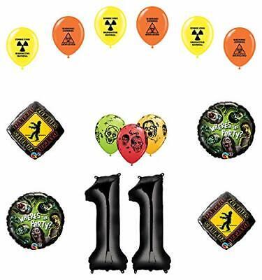 Zombie Birthday Party Supplies (Mayflower Products Zombies 11th Birthday Party Supplies Walking Dead Balloon)