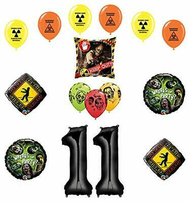 Zombie Birthday Party Supplies (Mayflower Products Zombies Party Supplies 11th Birthday The Walking Dead)