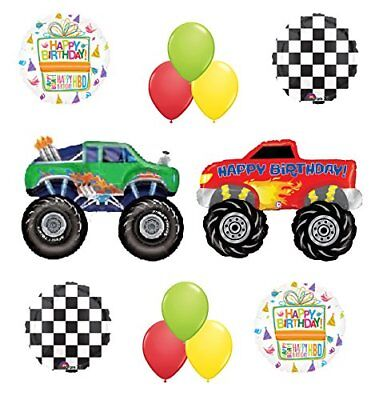 Monster Truck Birthday Party Supplies and Balloon Bouquet  - Monster Truck Party Supplies