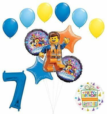 LEGO Movie Party Supplies 7th Birthday Balloon Bouquet Decorations