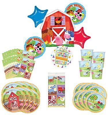 Barnyard Farm Party Supplies 8 Guests Birthday Balloon Bouquet Decorations](Barnyard Birthday Supplies)