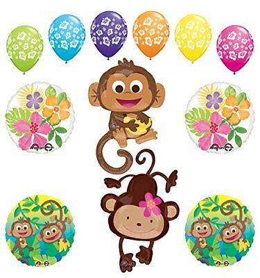 plies Birthday or Gender Reveal Monkey Love Jungle  (Monkey Party Supplies)