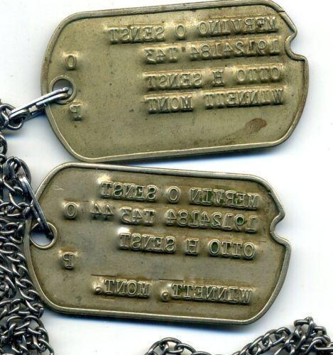 Ww2 Army Dog Tags Ebay