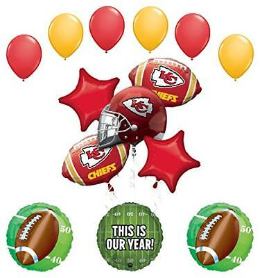 Mayflower Products Kansas City Chiefs Football Party Supplies  Balloon ](Party City Supply)