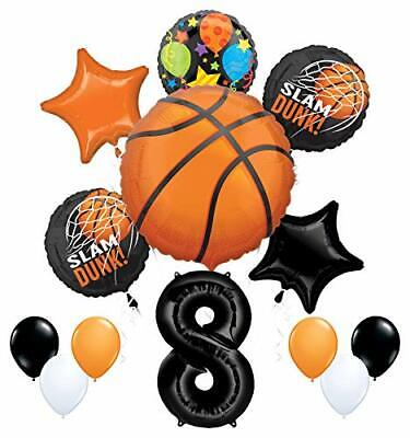 Mayflower Products Basketball 8th Birthday Party Supplies Nothin' But Net  (Basketball Birthday Supplies)