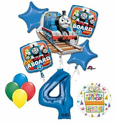 The Ultimate Thomas the Train Engine 4th Birthday Party Supplies   (Thomas The Train Balloons)