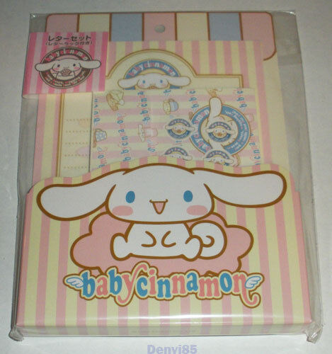Sanrio 2002 BABY CINNAMON Stationery Set #2 from JAPAN! NEW!