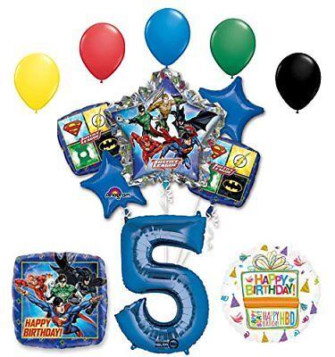 The Ultimate Justice League Superhero 5th Birthday Party Supplies   - Justice League Birthday Party