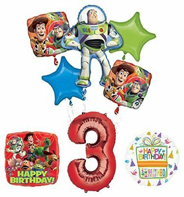 Toy Story 3rd Birthday Party Supplies and Balloon Bouquet Decorations (Toy Story 3 Birthday)