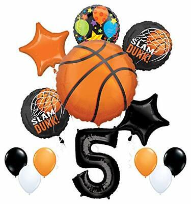 Mayflower Products Basketball 5th Birthday Party Supplies Nothin' But Net  (Basketball Birthday Supplies)