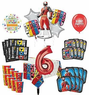 Power Ranger Birthday Party Supplies (Mayflower Products Power Rangers 6th Birthday Party Supplies 8 Guest)