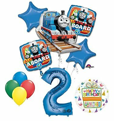 The Ultimate Thomas the Train Engine 2nd Birthday Party Supplies   (Thomas The Train Balloons)
