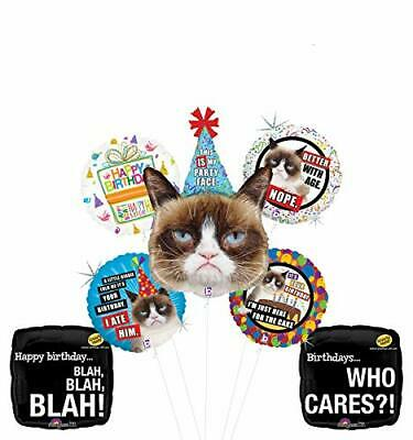 Caterpillar Party Supplies (Grumpy Cat Party Face Birthday Party Supplies Blah Blah Blah Balloon Bouquet)