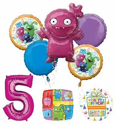 Mayflower Products Ugly Dolls 5th Birthday Party Supplies Balloon Bouquet Decor](Ugly Birthday)
