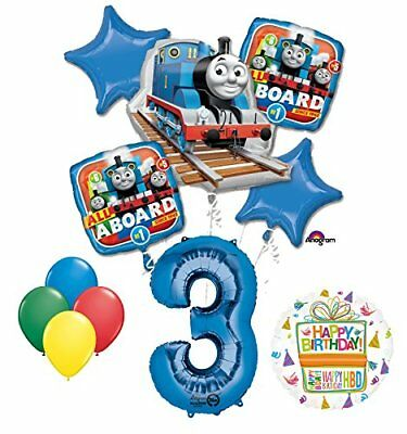 The Ultimate Thomas the Train Engine 3rd Birthday Party Supplies  ](Thomas Balloons)