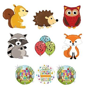 Woodland Creatures Birthday Party Supplies Baby Shower Balloon Bouquet - Baby Birthday Supplies