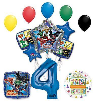 The Ultimate Justice League Superhero 4th Birthday Party Supplies   - Justice League Birthday Party