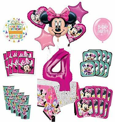Mayflower Products Minnie Mouse and Friends 4th Birthday Party Supplies 8 Guest