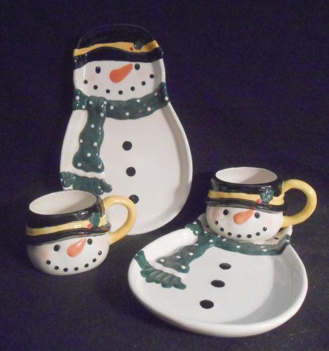 Snowman Plates Ebay
